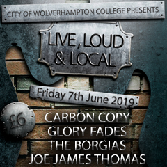 Image for - Live, Loud & Local: Carbon Copy, Glory Fades, The Borgias & Joe Thomas at The Slade Rooms