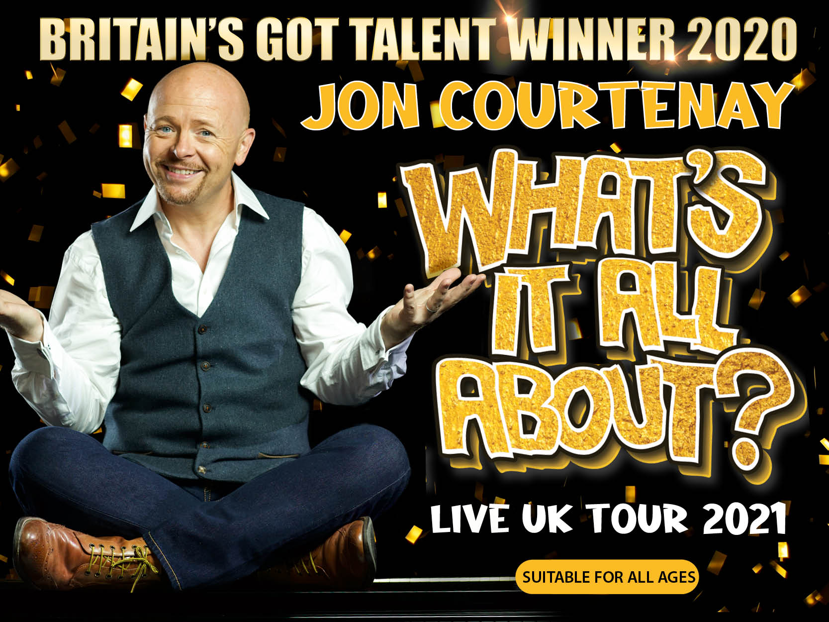 Image for - Jon Courtenay: What's It All About? at Bilston Town Hall