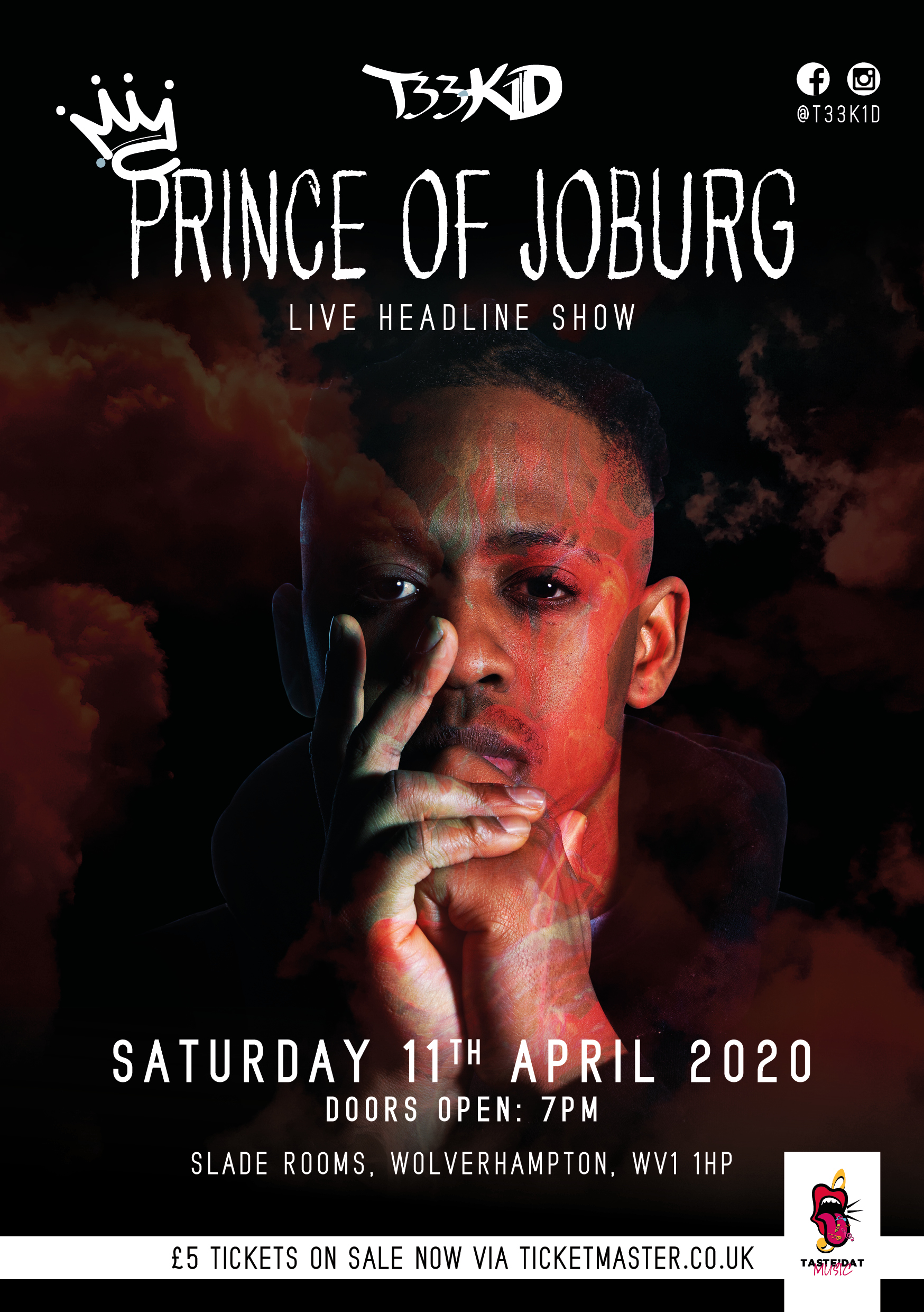 Image for - Prince Of Joburg - Album Launch T33K1D at The Slade Rooms