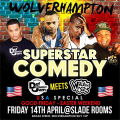 Image for - Superstar Comedy - USA Special at The Slade Rooms