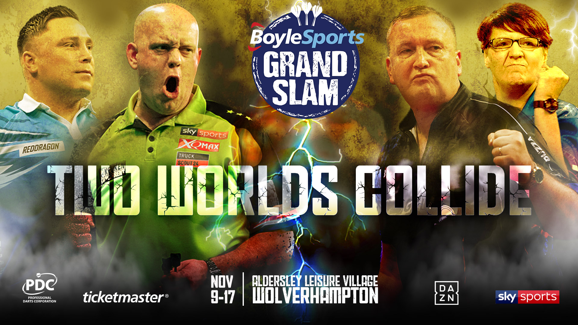 Image for - 2019 BoyleSports Grand Slam Of Darts at Aldersley Leisure Village