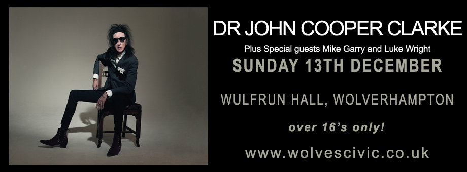 John Cooper Clarke live at the Wulfrun Hall 13/12/2015.